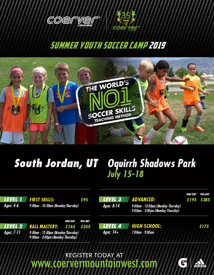Coerver Camp-July 2019 ($40 off for CMS Players)